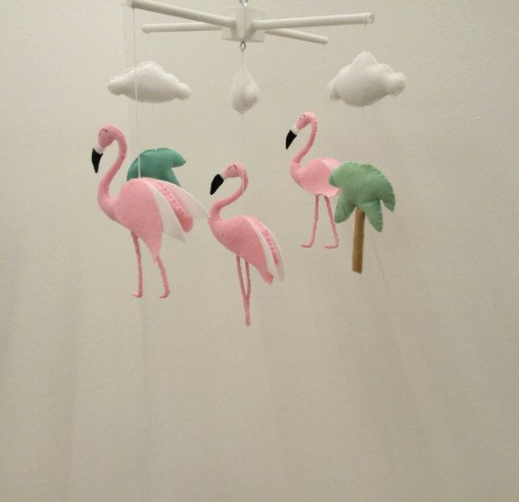 Flamingo Baby Mobile Cute Little Nursery Made To Order
