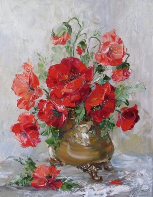 Poppies by Russian artist, Oksana Kravchenko (1971) Russia, Novouralsk