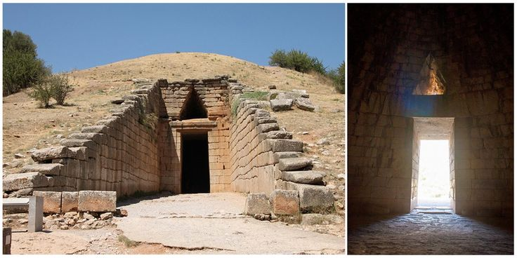 The Treasury of Atreus, or Tomb of Agamemnon, is the largest and most impressive of the nine tholos tombs at Mycenae