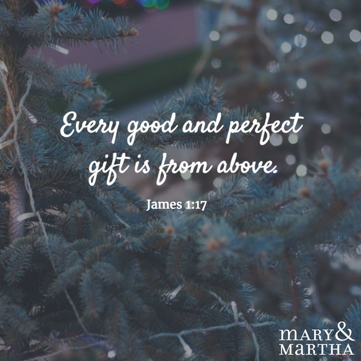 Every good and perfect gift is from above. -James 1:17