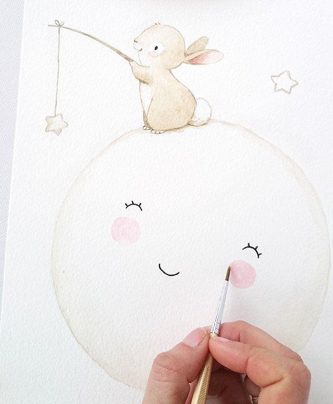 Drucke & Plakate – Print Wolke mit Geburtsdaten, Poster A4, rosa – ein Designerstück von ngmSTYLE bei DaWanda