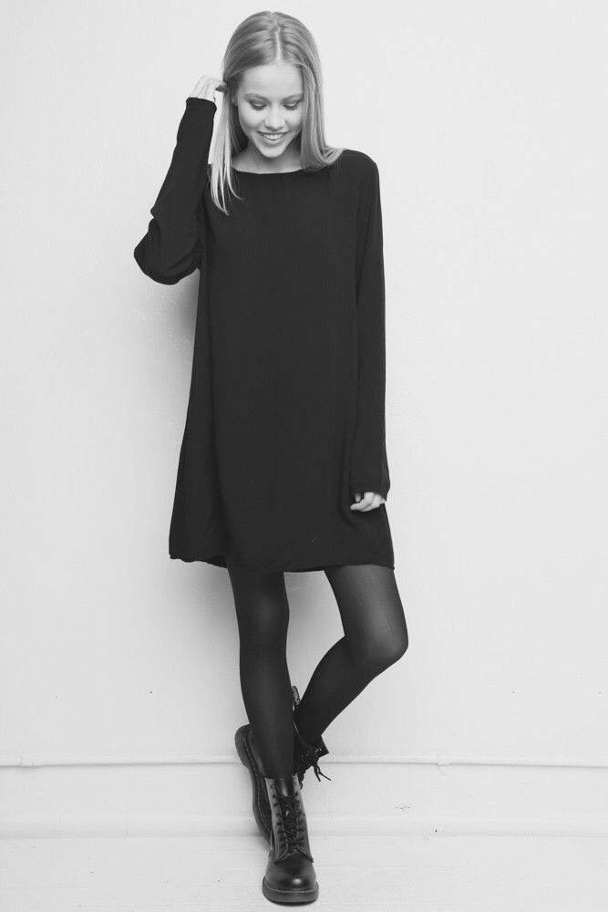 sweater dress and dr. martens