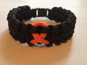 Leukemia Awareness Paracord Survival Bracelet