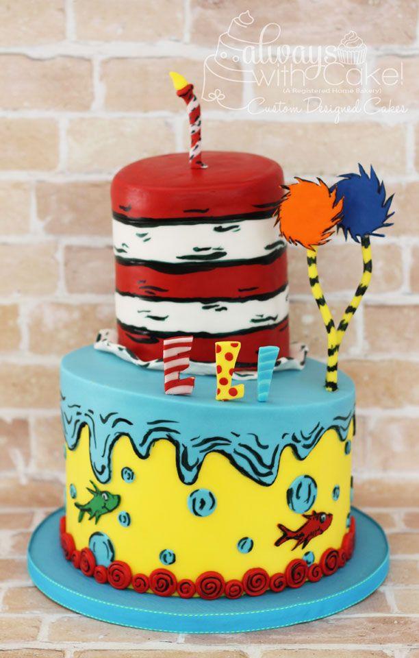 Surprising Dr Seuss 1St Birthday Cake Seuss Cakes Dr Seuss Cake Funny Birthday Cards Online Sheoxdamsfinfo