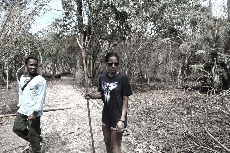 The woman Ranger #Komodo Island