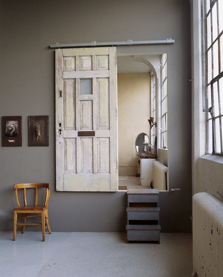 sweet idea for a sliding door, different but very cool