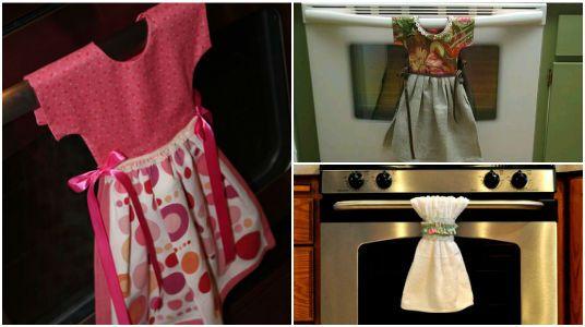 Linda Presentación de Toallas Colgantes para Cocina (12 IDEAS)