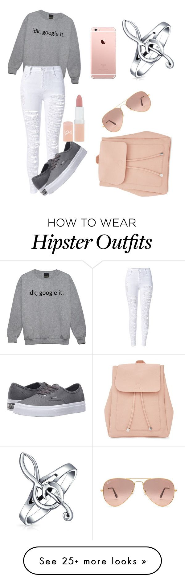 """""""Untitled #33"""" by xxgeekyxx on Polyvore featuring WithChic, Vans, Rimmel, Ray-Ban, New Look and Bling Jewelry"""