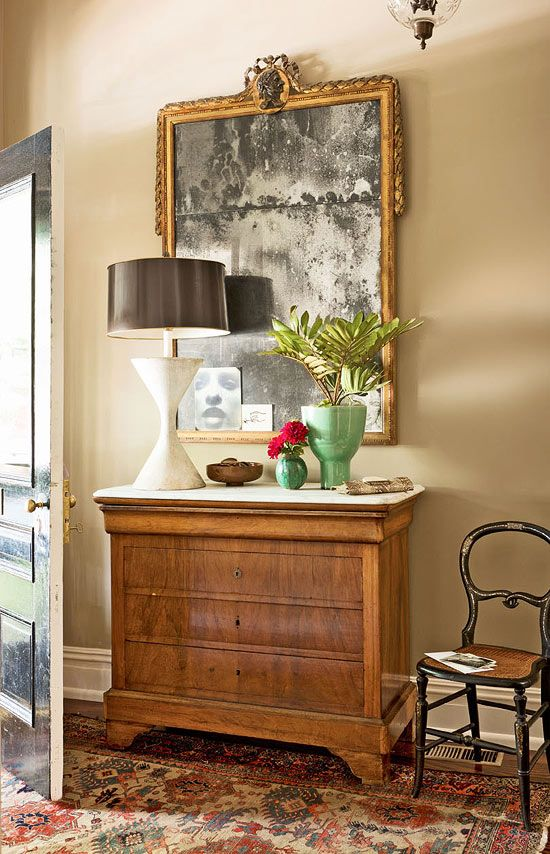Marble Topped Dining Room Chest