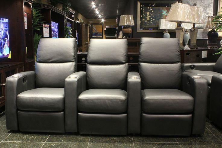 Sleek Charcoal Grey Theater Seating Houston Tx Gallery Furniture Mb I Design