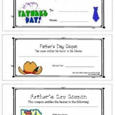 Free printable father's day coupon book