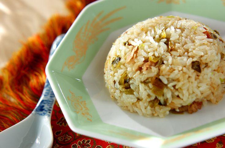ゴマ油の風味が食欲をそそる高菜チャーハン。高菜チャーハン/西川 綾のレシピ。[中華/米料理(チャーハン等)]2014.05.07公開のレシピです。