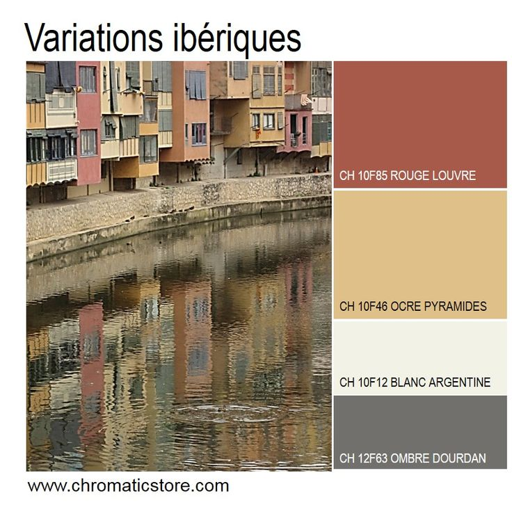 31 best chromatic en facade images on pinterest for Nuancier couleur facade