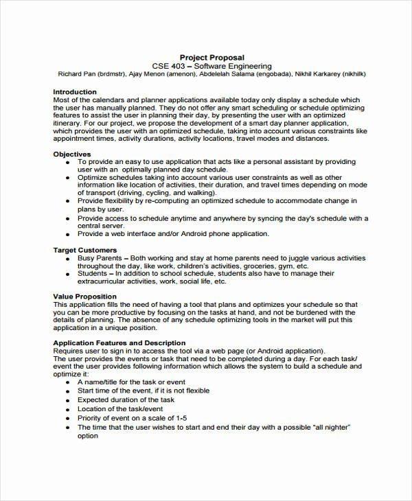 30 Engineering Project Plan Template In 2020 Project Proposal
