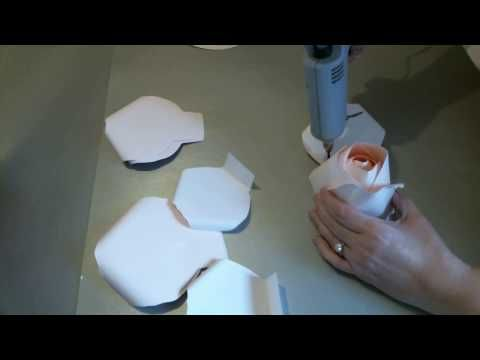 Rose Paper Flower Tutorial Template #83 Part 2 WIN 20161205 12 28 17 Pro - YouTube