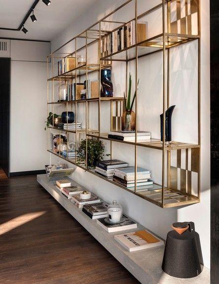 gold bookshelves - Gold Bookshelves