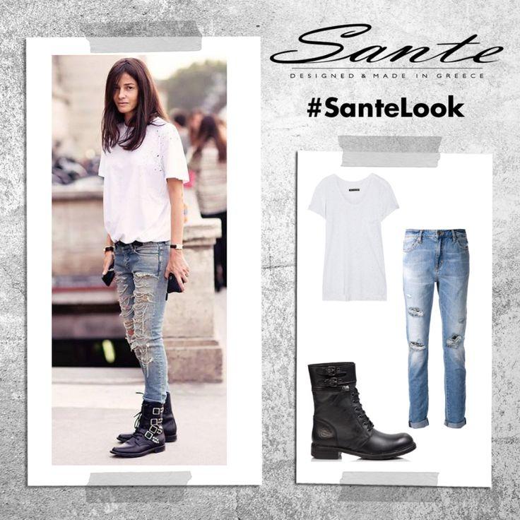 """""""A girl considered boyish or masculine in behavior or manner"""" #SanteLook"""