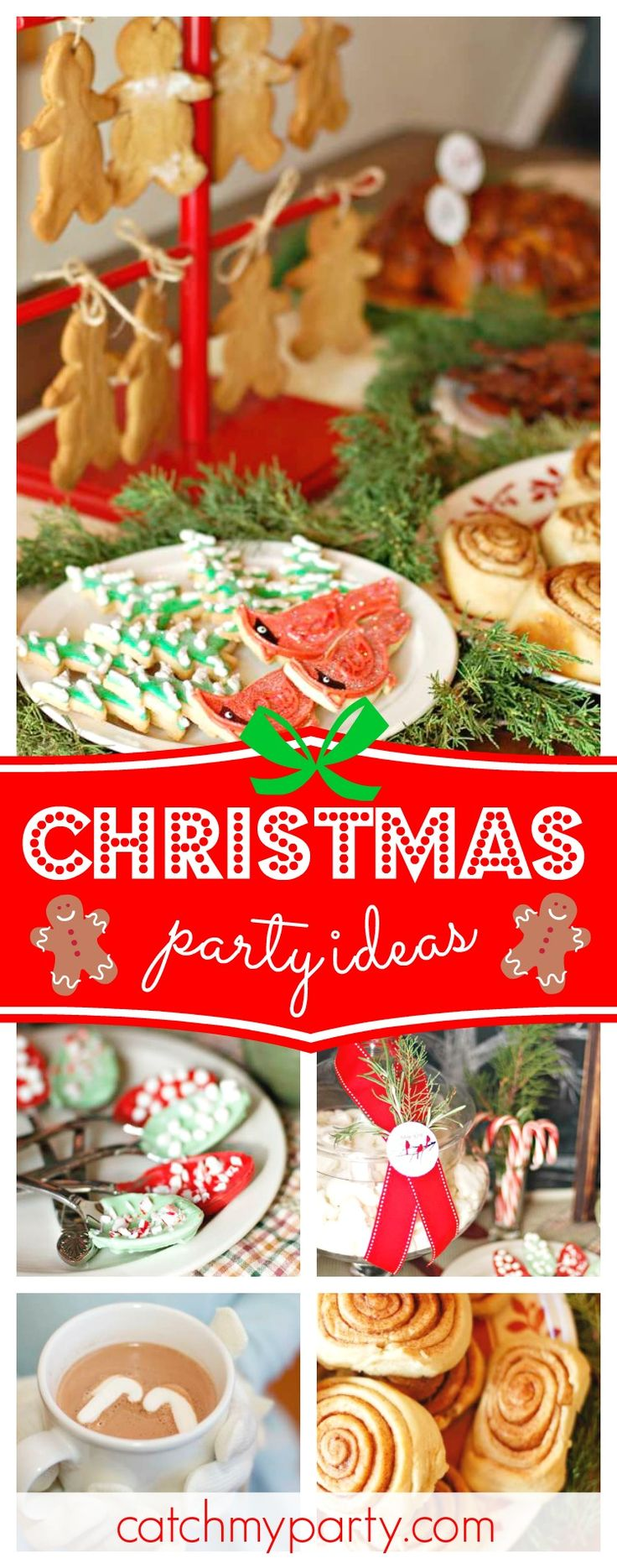 Don't miss this amazing rustic Cabin Christmas party! The cookies are gorgeous!! See more party ideas and share yours at CatchMyParty.com #christmas #holiday #party