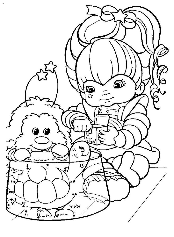 Colouring Pages Rainbow Fish : 22 best rainbow brite coloring pages images on pinterest