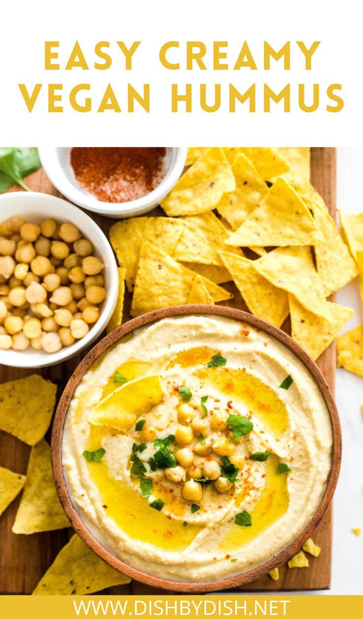 Easy Creamy Hummus (GlutenFree, Vegan) Dish by Dish
