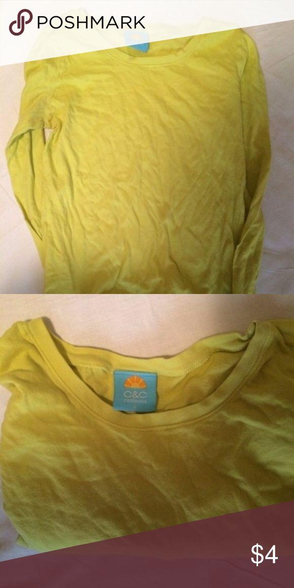 C&C California Neon Yellow Top #soft #c&c #c&ccalifornia #cali #california #yellow #yellowtop #neon #neontop #summer #summery #top #tops #longsleeve #neonlongsleeve #neonlongsleevetop #neonlongsleevetops #bundle #bundles #bundleandsave #bundledeal #bundledeals #bundletosave #bundlediscount #bundlediscounts less C&C California Tops Tees - Long Sleeve