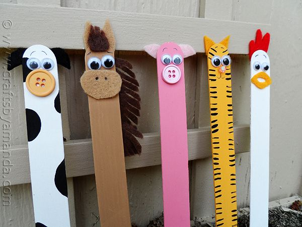 Palillo del arte de Artesanía: Los animales de granja por CraftsbyAmanda.com @ amandaformaro
