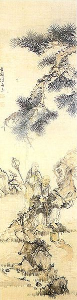 (Korea) Old Monks under the Pinetree by Jang Seung -eop (1843-1897). ca 19th century CE.
