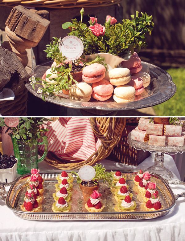 French Macarons & French Tarts! Vintage French Baby Shower By: Double Take Event Styling!