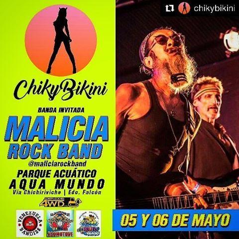 @maliciarockband  Dice Presente En la Moto Rumba Playera Chikybikini   El  Unico evento Motero que Reúne a más de 40 Chicas   Ellas Son las Más Sexys y Hermosas de las Redes Sociales en #Venezuela  Las Chicas - @chykybikini - @chikybikinieventos  Este año Recargado  - Full Seguridad - Estacionamiento Gratis Para  los Vehiculos - Premio al Mejor Disfraz - Acrobacias - Eleccion de la Chica Chikybikini - Nuestras Mini Tarimas de Fuego - El Show Retro Con las Caza Fantasma A Cargo de…