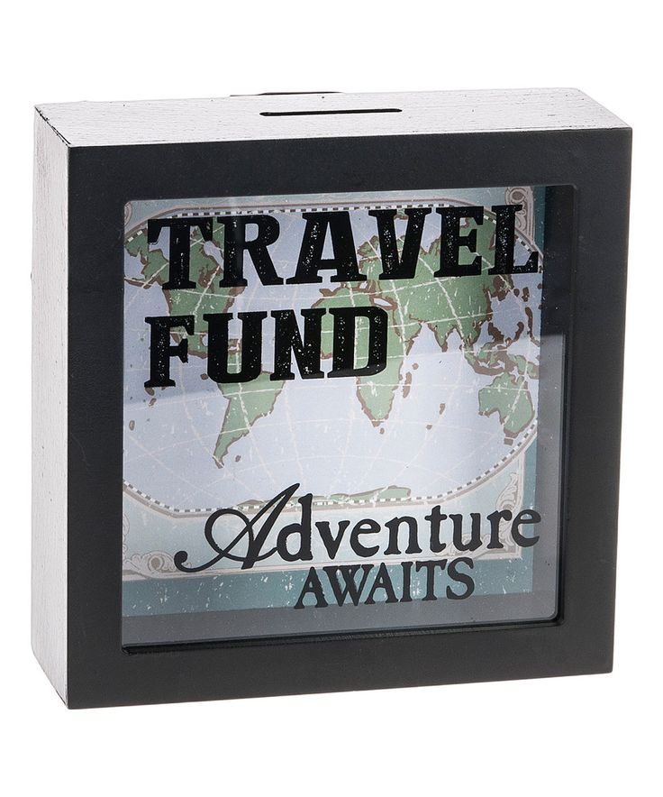 This 'Travel Fund' Shadowbox Bank by GANZ is perfect! #zulilyfinds