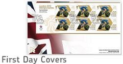 Team GB Gold Medal Winner First Day Covers