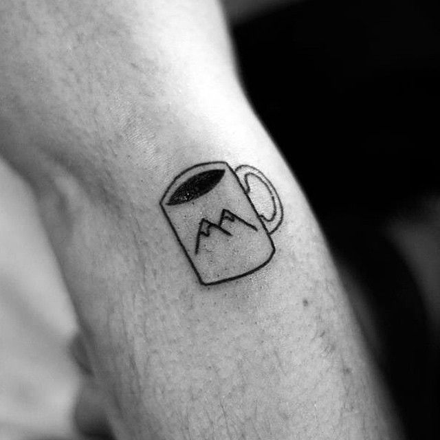 Tiny mountain mug tattoo/ twin peak moment