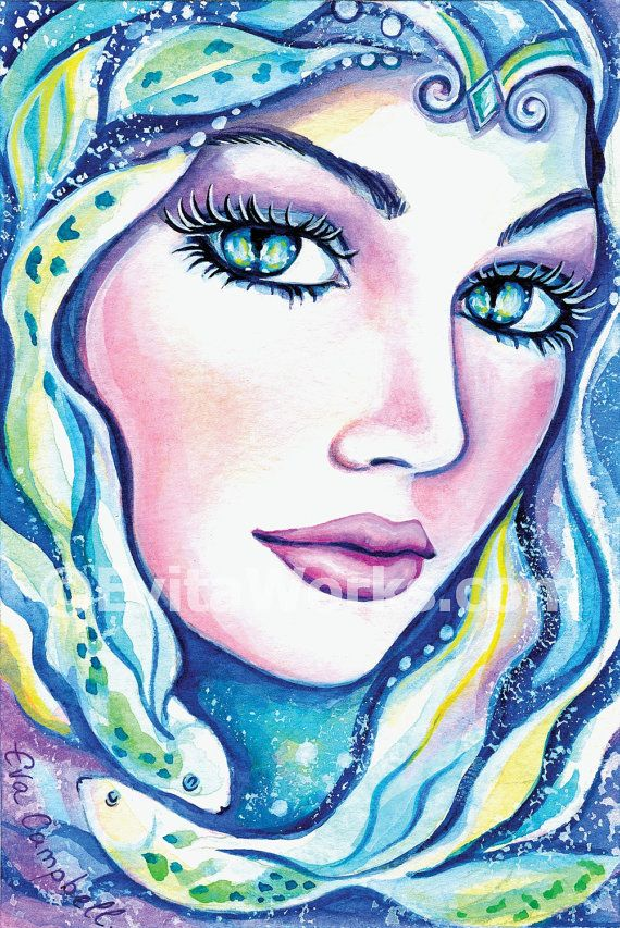 Meerjungfrau-Kunst-Geschenk-Ideen signiert für von EvitaWorks