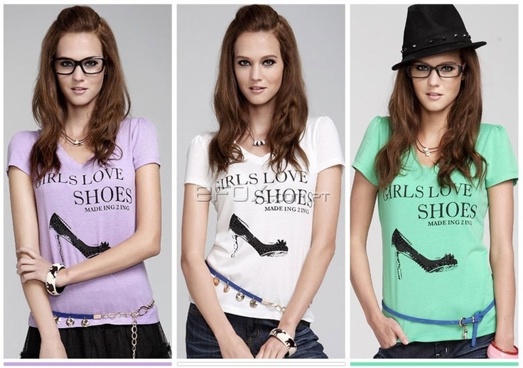 T-Shirt Fashion Moda 2012 Girls Love Shoes - Várias Cores  Na Efox: http://www.efox.com.pt/fashion-t-shirt-p-290933
