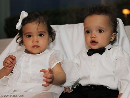 Mariah Carey's babies Moroccan and Monroe at their birthday