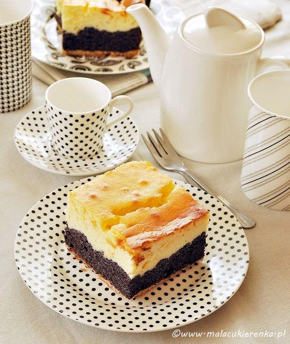 ciasto serowo - makowe
