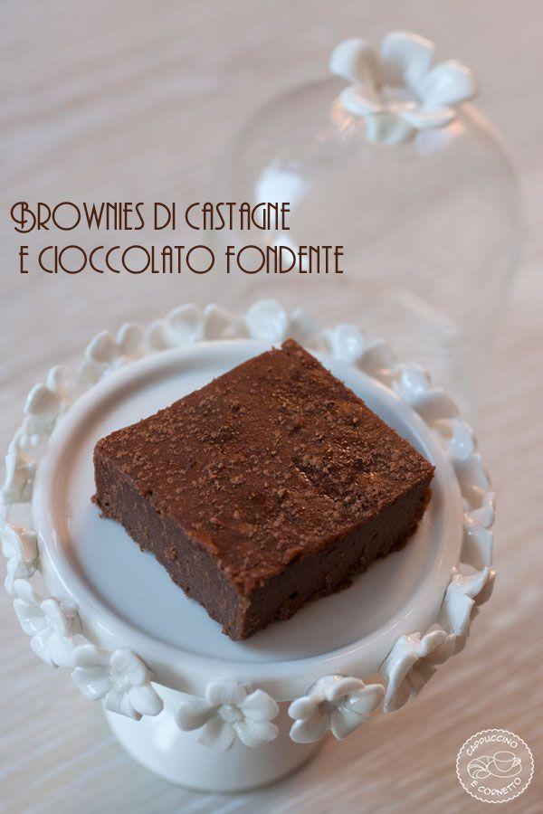 Brownies di castagne e cioccolato fondente