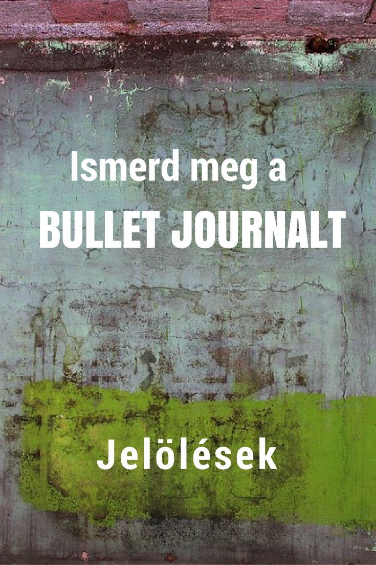 bullet journal | magyar ismertető | jelölések