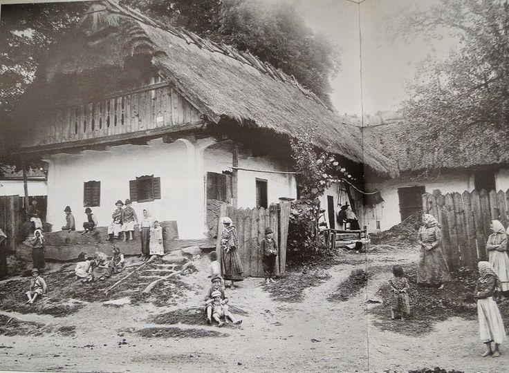 Zsúpfedeles ház a Zala vármegyei Dobronakon 1904