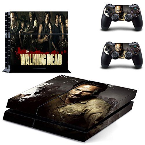 Skinia PS4 Console Designer Skin for Sony PlayStation 4 System plus Two2 Decals for PS4 Dualshock Controller  ps4 skin cover the walking dead twd *** More info could be found at the image url.Note:It is affiliate link to Amazon.