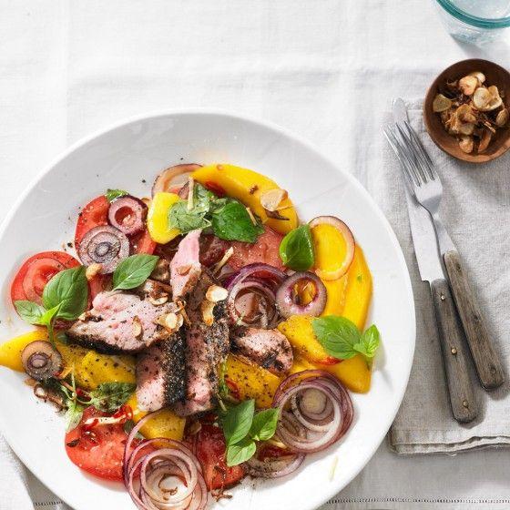 Herbst salate fleisch