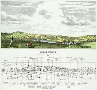Melbourne from the south side of the Yarra Yarra 1839 | Ergo