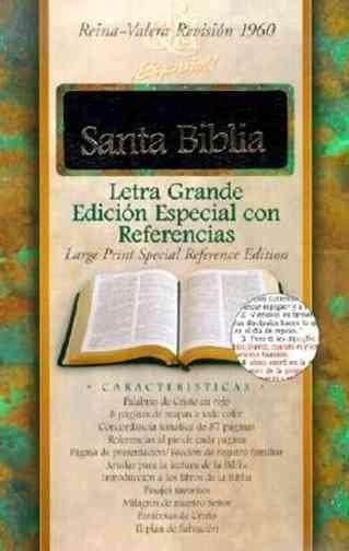 Santa Biblia: Reina-Valera Revision 1960, Letra Grande Edicion Especial Con Referencias, Con Indice, Negro, Piel ...