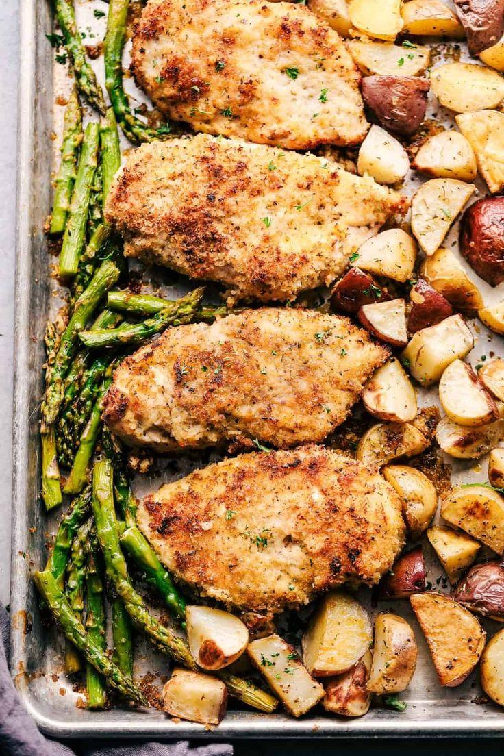 Sheet Pan Crispy Parmesan Garlic Rooster