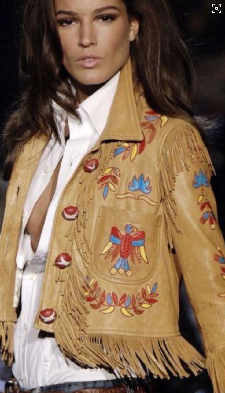 Peach skin | Leather | Fringe | Embroidered | Jacket | #ʙᴏʜᴏᴄʜɪᴄ #sᴛʀᴇᴇᴛsᴛʏʟᴇ