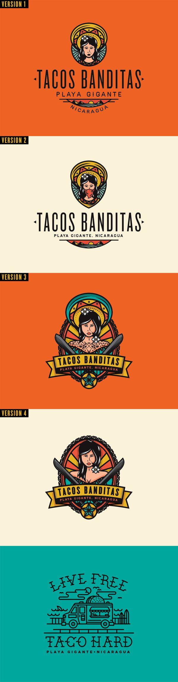 Tacos Banditas by Adam Grason, via Behance