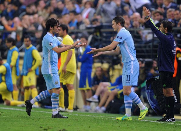 David Silva - Villarreal CF v Manchester City FC - UEFA Champions League