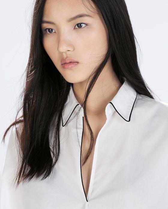 ZARA - 女士 - 府綢襯衫