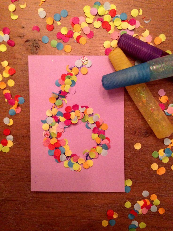 Leuk om zelf te maken. Een leuke uitnodiging met confetti. Je zou ook de…