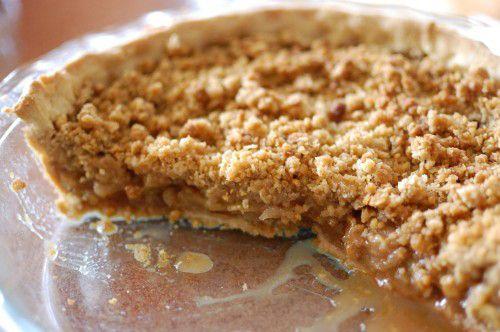 Fitness jablečný koláč z ovesných vloček